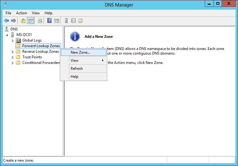 Cấu hình DNS Windows Server 2012 - phonuiit.com
