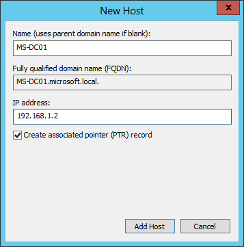 Cấu hình DNS Windows Server 2012